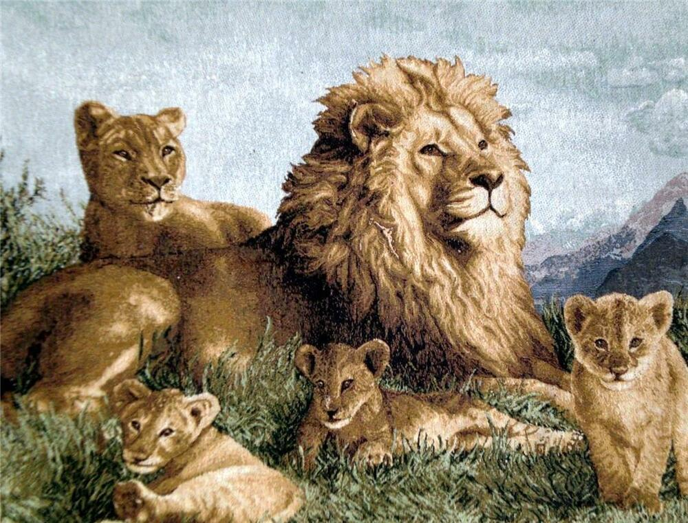Tapestry Wall Hanging Pride Of Lions Lion King Simba Nala Out Of Africa Ebay