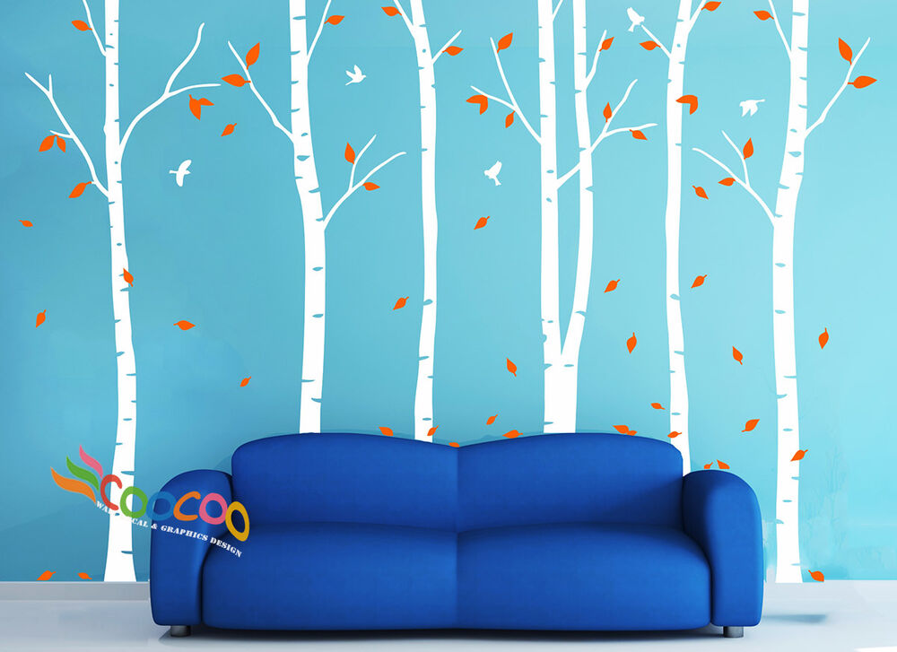 Wall Decor Decal Sticker Removable 90 Quot H Birch Bird Tree 2