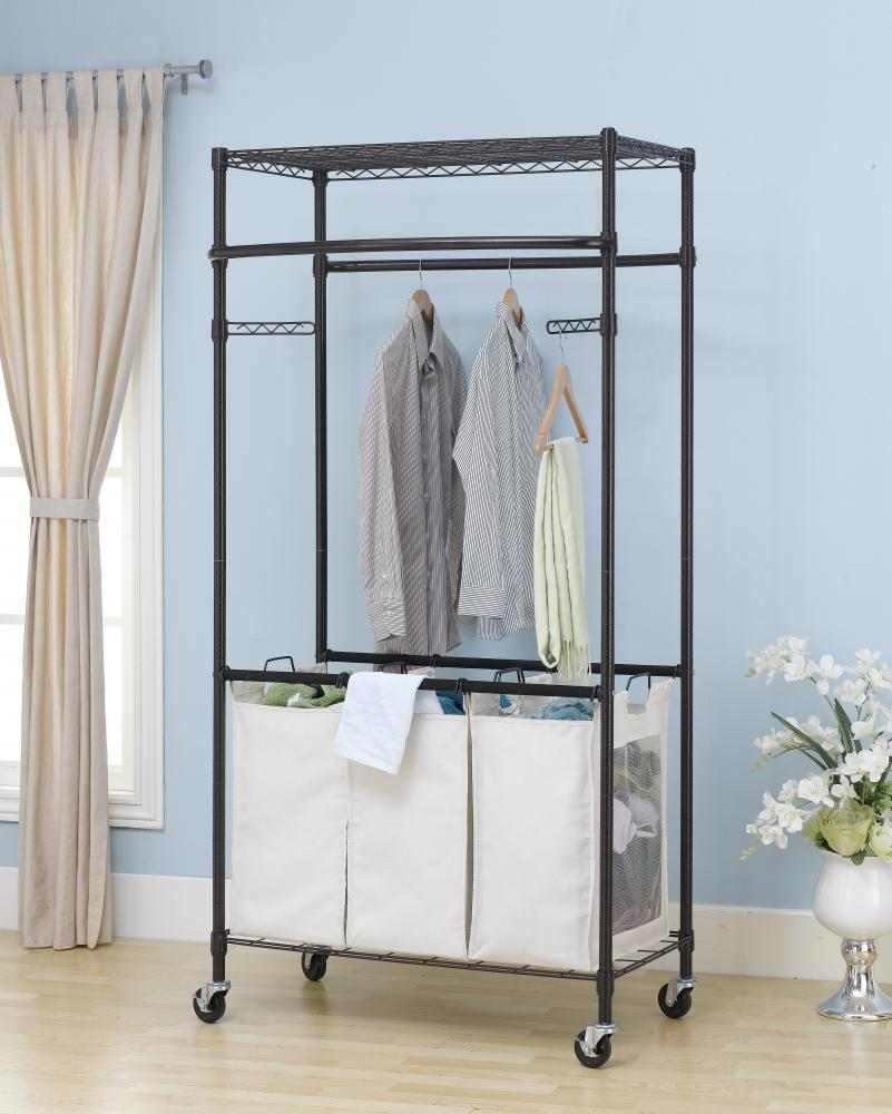 new bronze 2 tier rolling clothing garment rack shelving wire shelf dress g72 ebay. Black Bedroom Furniture Sets. Home Design Ideas
