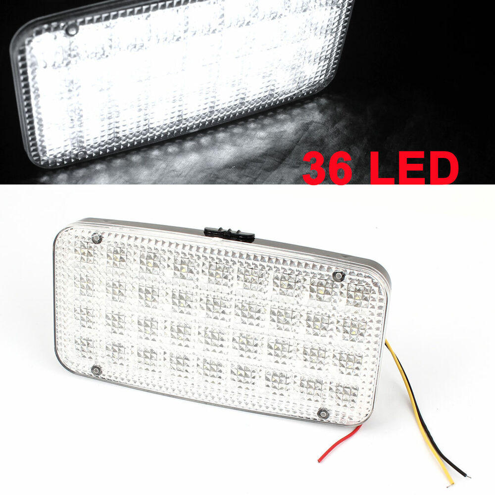car truck white 36 led interior map reading dome light lamp dc 12v ebay. Black Bedroom Furniture Sets. Home Design Ideas
