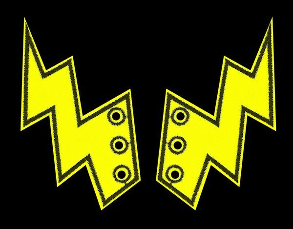 49c9882742 Details about SHWINGS YELLOW NEON Lightning bolt wings for SHOES official  Shwings NEW 40106
