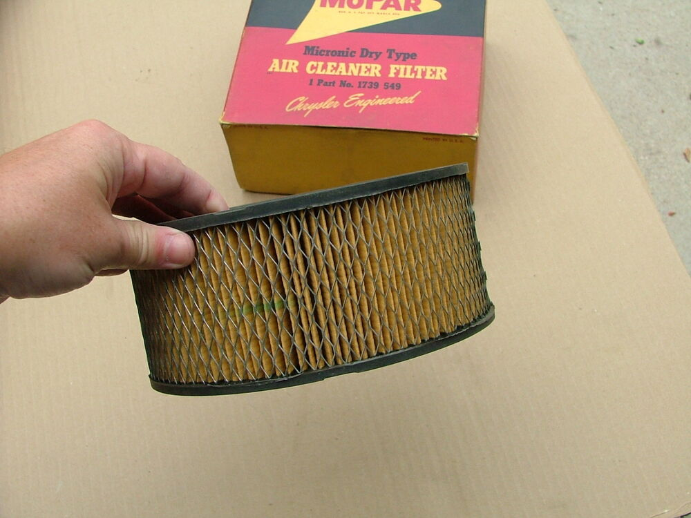 Plymouth Air Cleaner : Mopar air cleaner element nos dodge plymouth