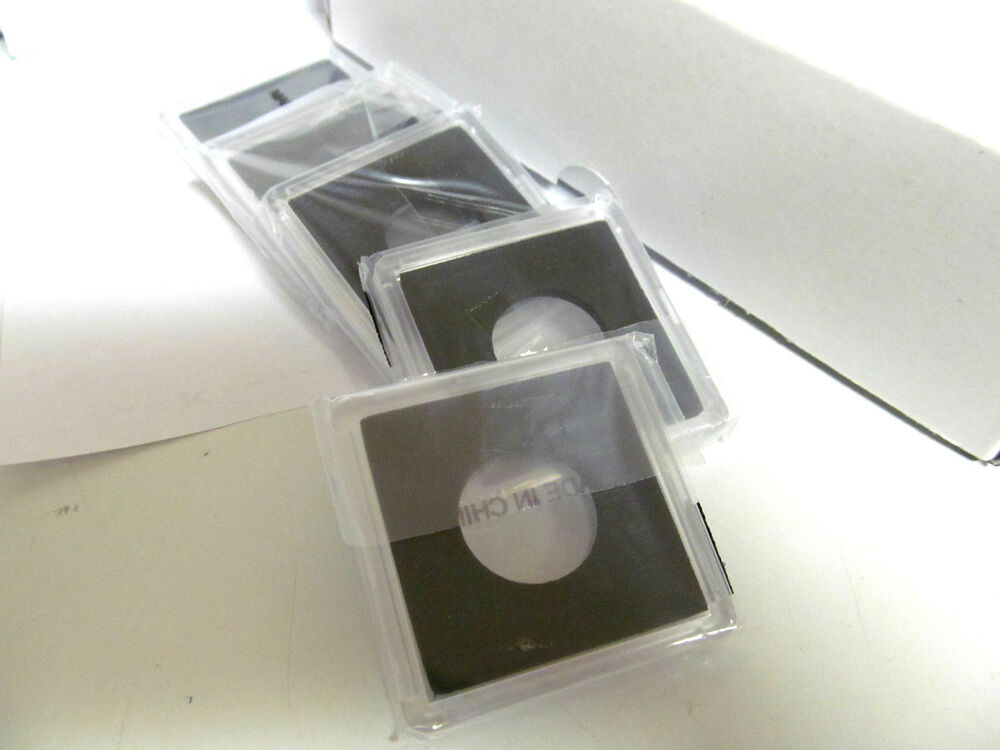 5 2x2 Plastic Snaplock Coin Holders For One Quarter Oz