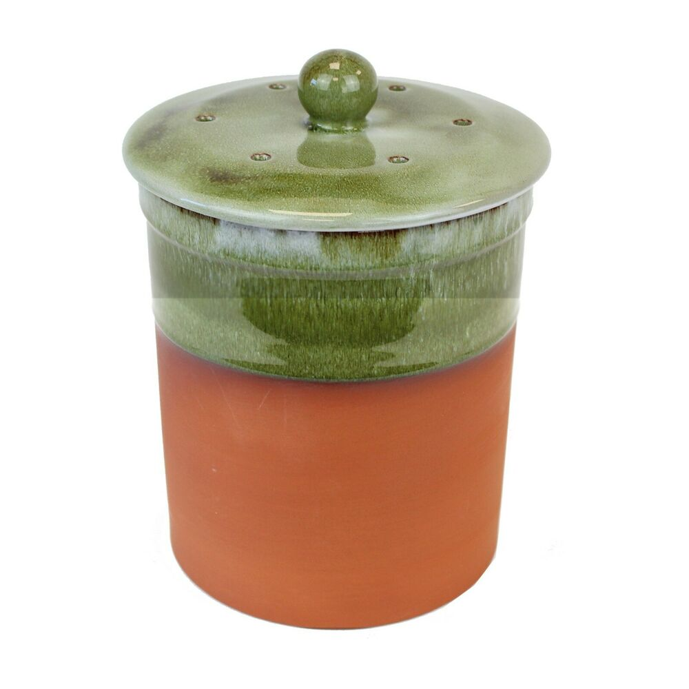compost caddy bramley green ceramic kitchen compost bin ebay