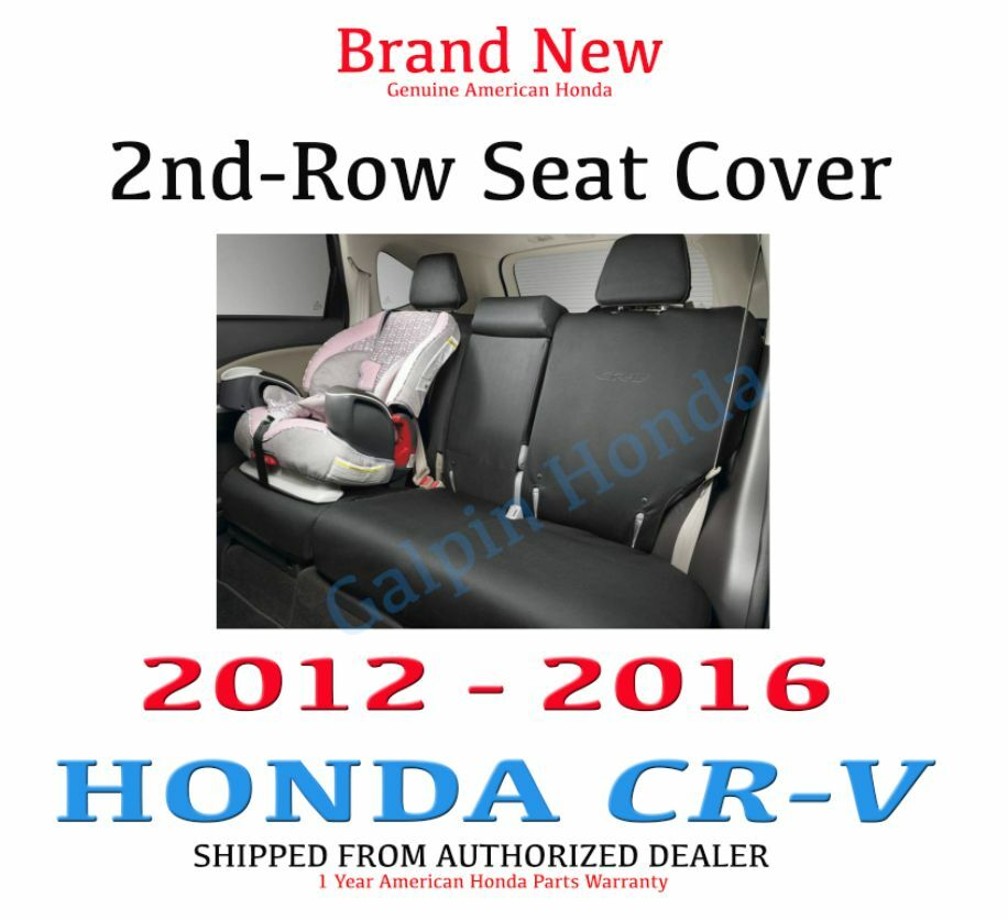 genuine oem honda cr v 2nd row seat cover set 2012 2016 08p32 t0a 110 ebay. Black Bedroom Furniture Sets. Home Design Ideas