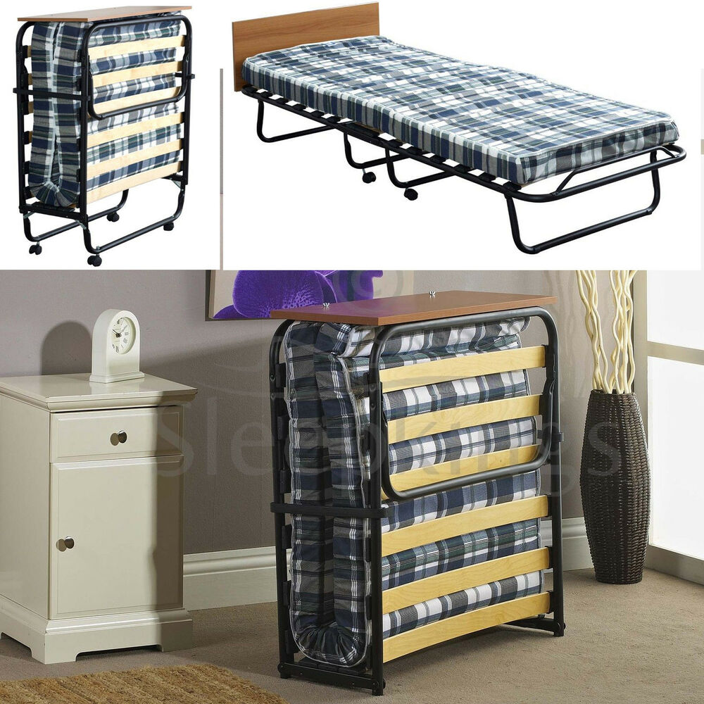 FOLDING SINGLE VISITOR Z GUEST BED WITH MATTRESS ...