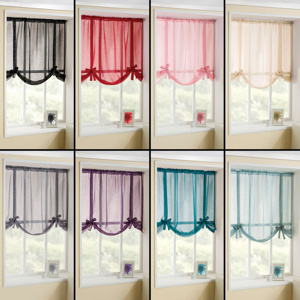 Glitter Sparkle Voile Net Tie Blind Tie Up Voile Blind