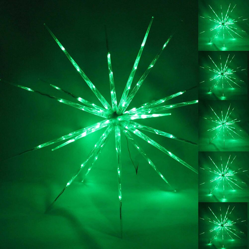 Large green multi functional 3d star burst lights for 3d star christmas decoration