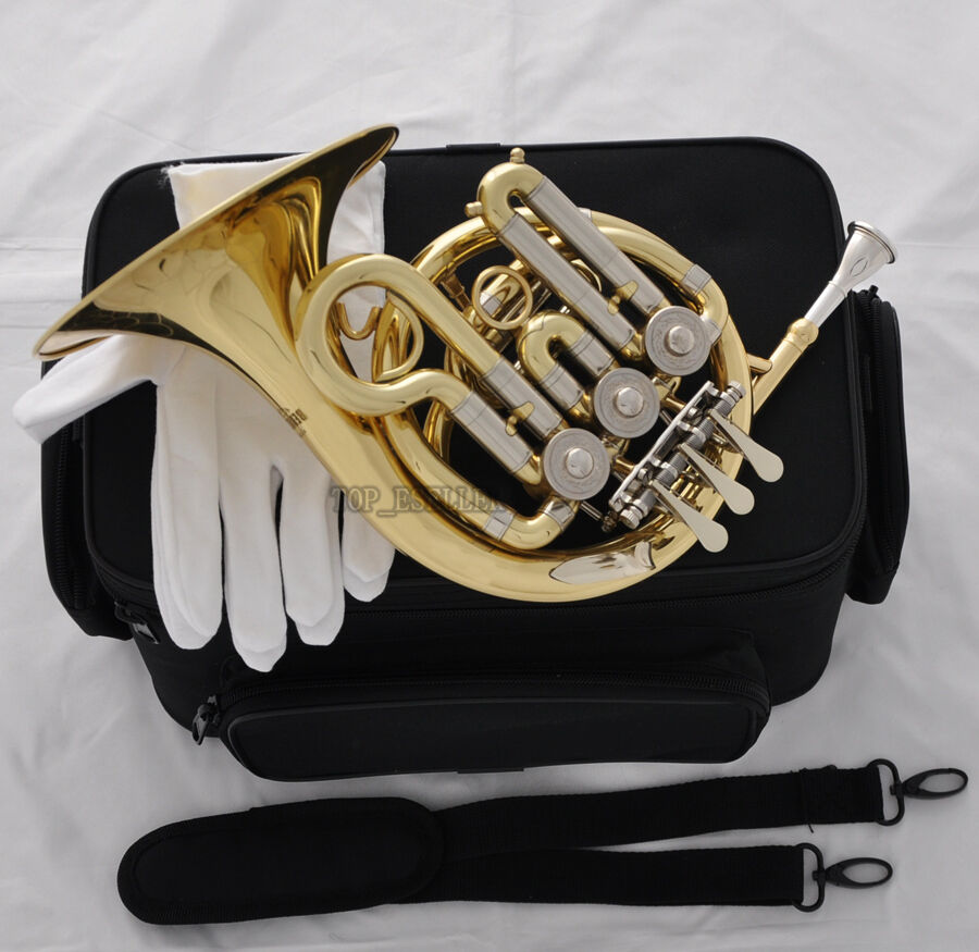 sale gold mini french horn cupronickel tuning pipe bb. Black Bedroom Furniture Sets. Home Design Ideas