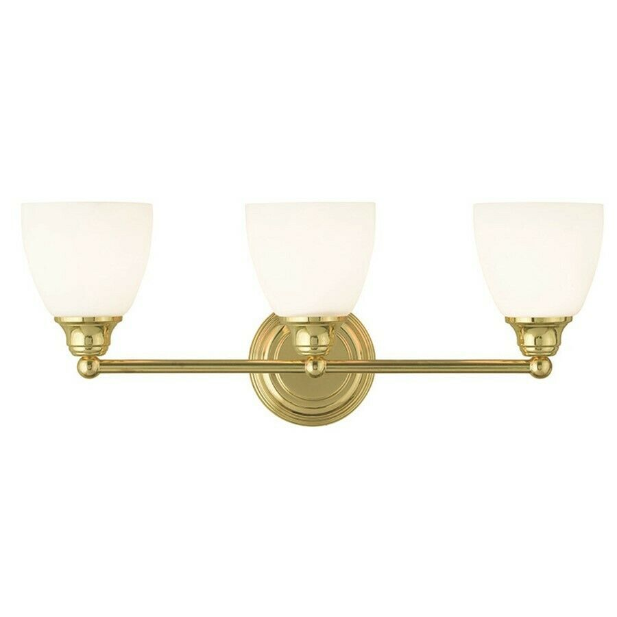 Livex Lighting Somerville Bathroom Vanity Lighting, Polished Brass - 13663-02 eBay