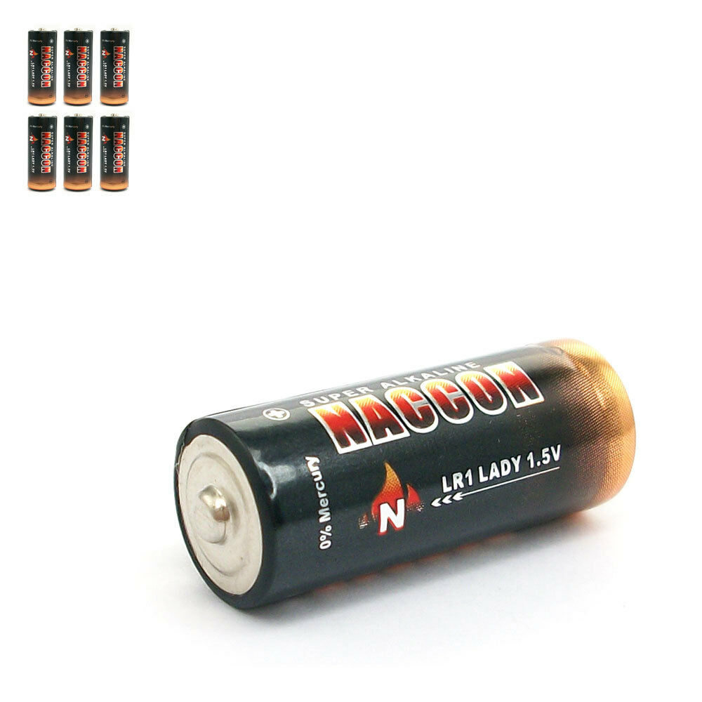 6 pcs lr1 1 5v alkaline battery am5 e90 n 910a lady sum5 ebay. Black Bedroom Furniture Sets. Home Design Ideas