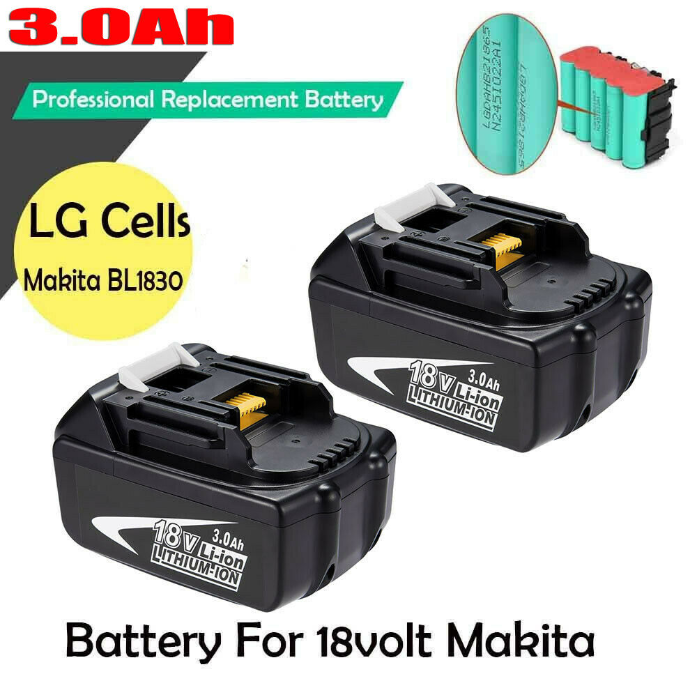 2 pack new 18v 3 0ah lxt lithium ion battery for makita bl1830 bl1815 tools ebay. Black Bedroom Furniture Sets. Home Design Ideas