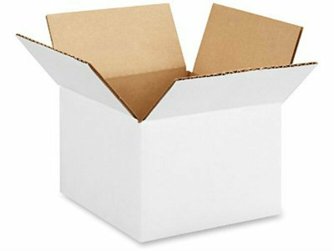 5 x 5 x 5 white corrugated boxes lot of 1100 boxes free shipping ebay. Black Bedroom Furniture Sets. Home Design Ideas