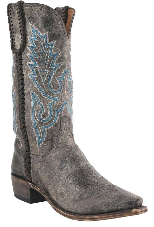 Lucchese M2611 54 Mens Chocolate Distressed Calf Leather