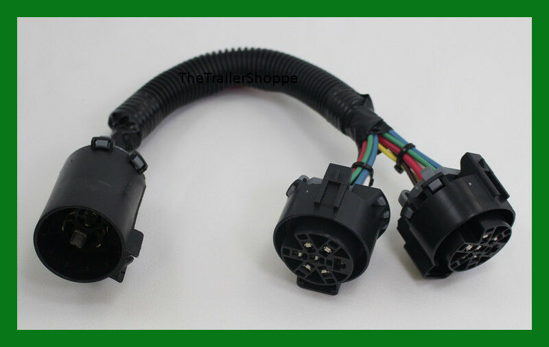 Oem trailer plug wiring harness y adapter converter