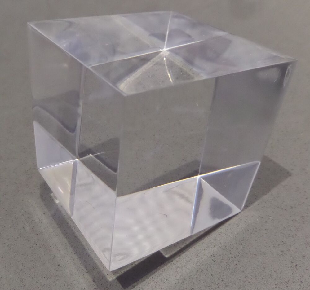 2 x 60mm large polished clear transparent perspex acrylic for Large acrylic block