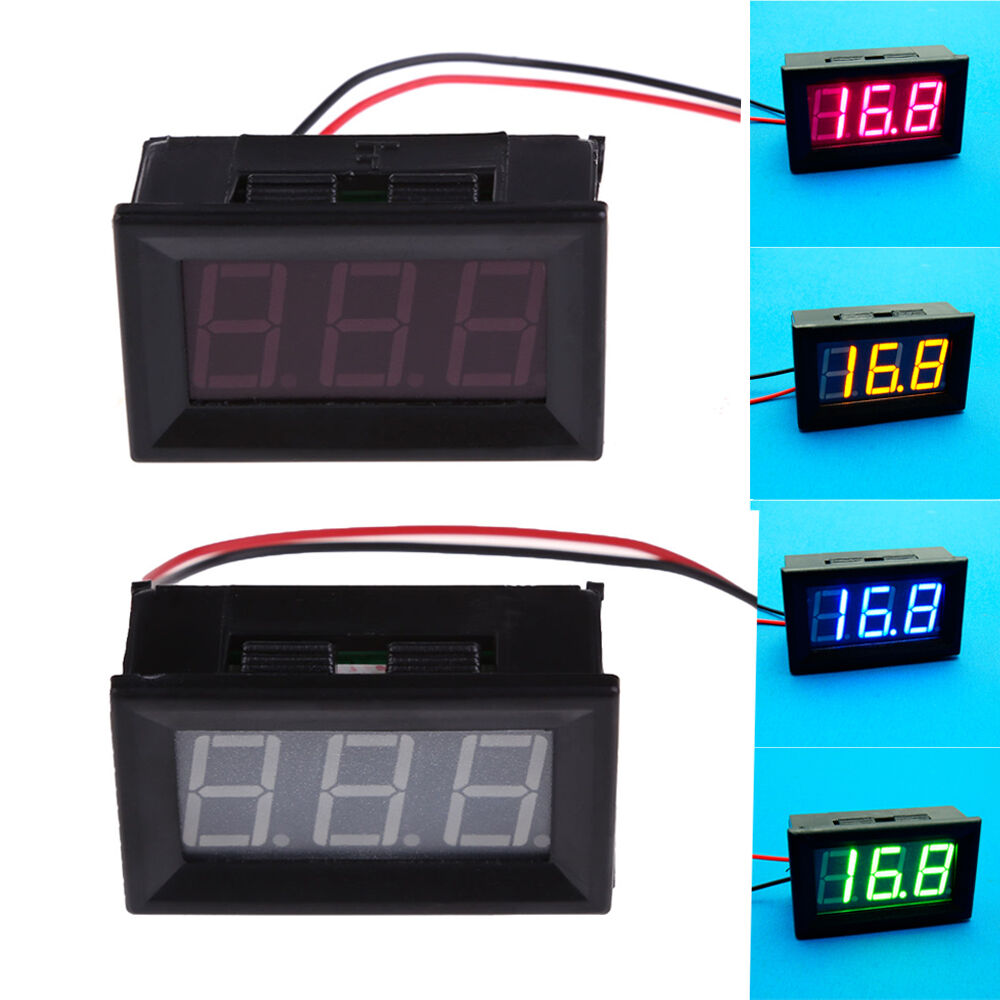 1 Meter Wire Current : New mini dc wire led display digital voltage voltmeter