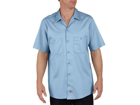 Dickies new men 39 s 2 pocket quality work shirts small to xl for Tall mens work shirts