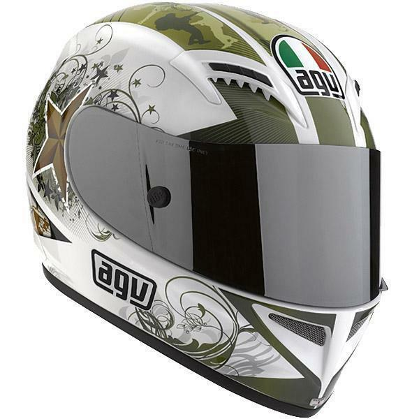 NEW AGV T-2 MOTORCYCLE HELMET WARRIOR MILITARY GRAPHIC