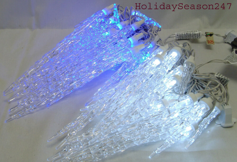 25 TWINKLING ICICLE CHRISTMAS LED LIGHT STRING HOLIDAY OUTDOOR ...