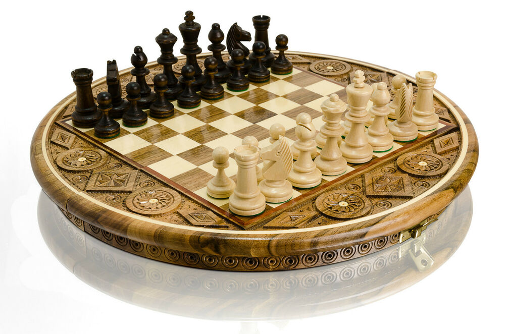 Amazing ruby decorative high quality hand carved wooden chess set ebay - Ornate chess sets ...