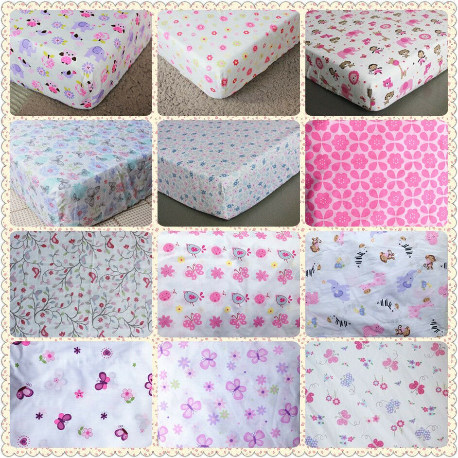 brand new baby crib cot bed fitted sheet 100 cotton girls. Black Bedroom Furniture Sets. Home Design Ideas
