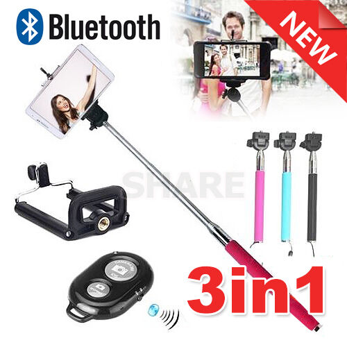 oz for iphone 5 5c 5s 6s extendable unipod selfie stick bluetooth remote shut. Black Bedroom Furniture Sets. Home Design Ideas