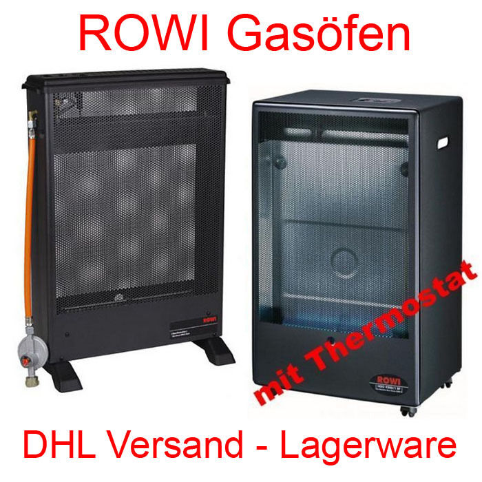 rowi blue flame 4 2 kw katalytofen gasofen gasheizung mit thermostat gasheizer ebay. Black Bedroom Furniture Sets. Home Design Ideas