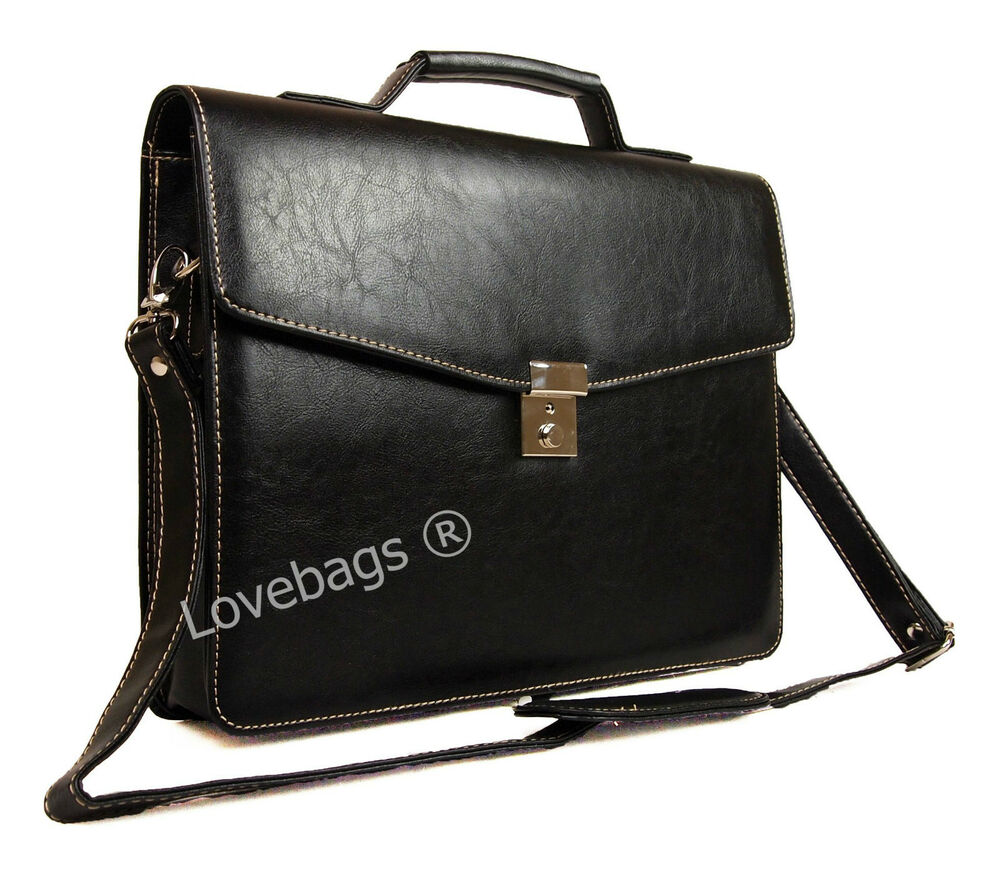 Quality Faux Leather Documents Business Briefcase Work Cabin Luggage Satchel Bag | EBay