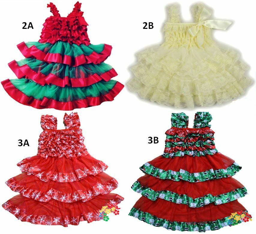 Dress lace satin high quality holiday christmas outfit 1t 4t ebay