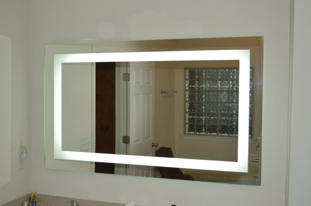Mam86036 60 wide x 36 tall lighted vanity mirror for Mirror 48 x 60