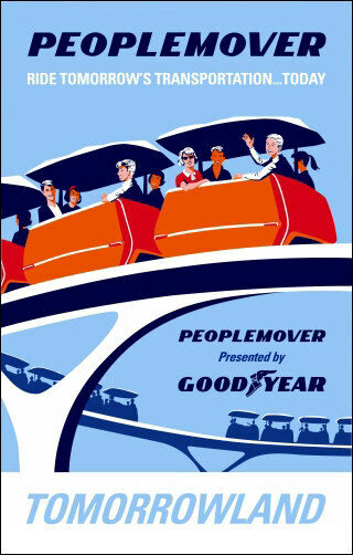 Disneyland peoplemover ride poster disney tomorrowland for Buy cheap posters online