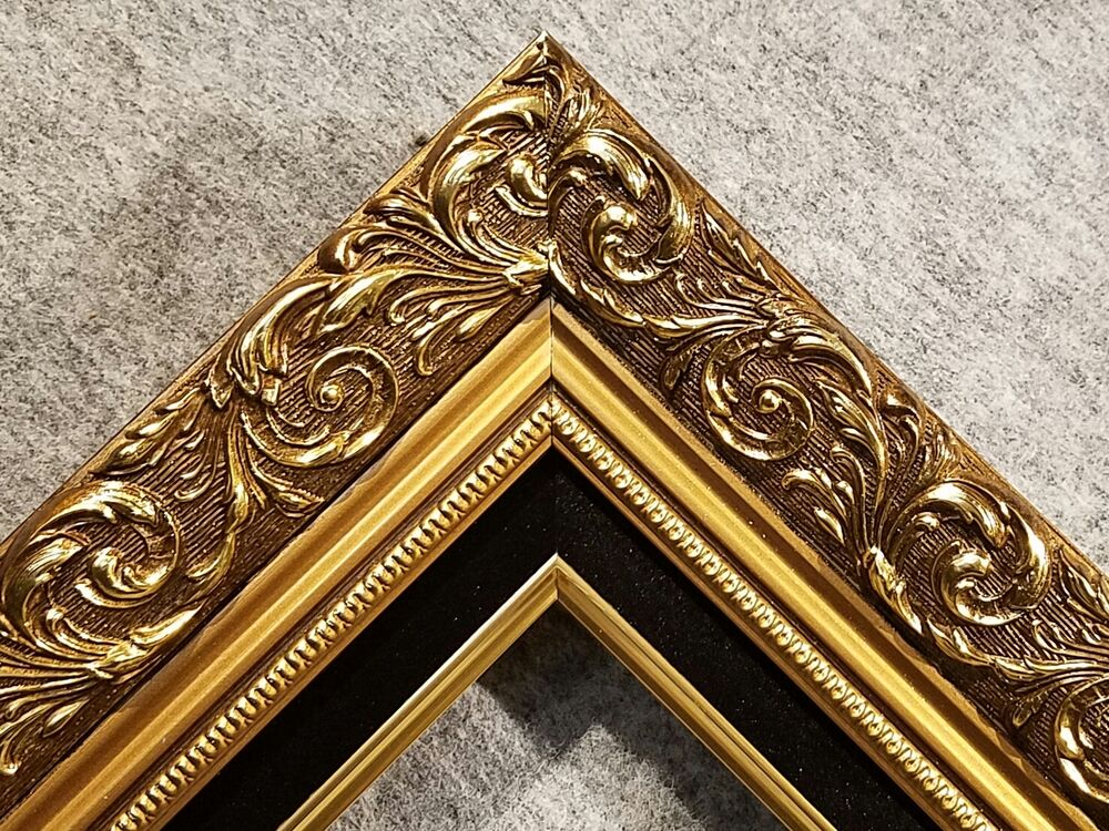 3.25 Classic GOLD black Ornate WOOD Picture Frame Wedding ...