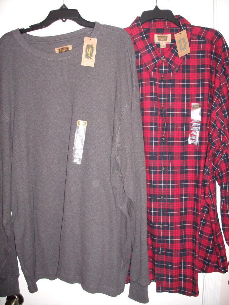 Lot of 2 the foundry supply co mens long sleeve shirts for Big and tall long sleeve shirts