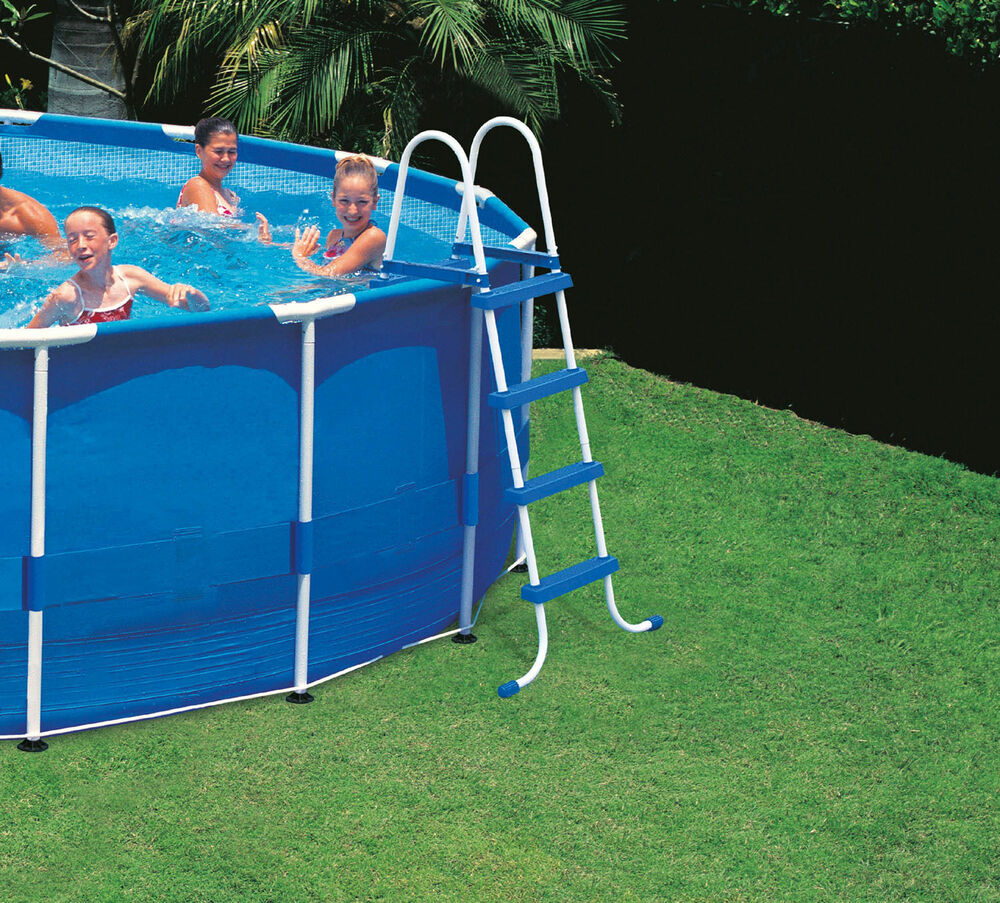 Intex Above Ground Swimming Pool Ladder W Barrier 48 Pools Ebay