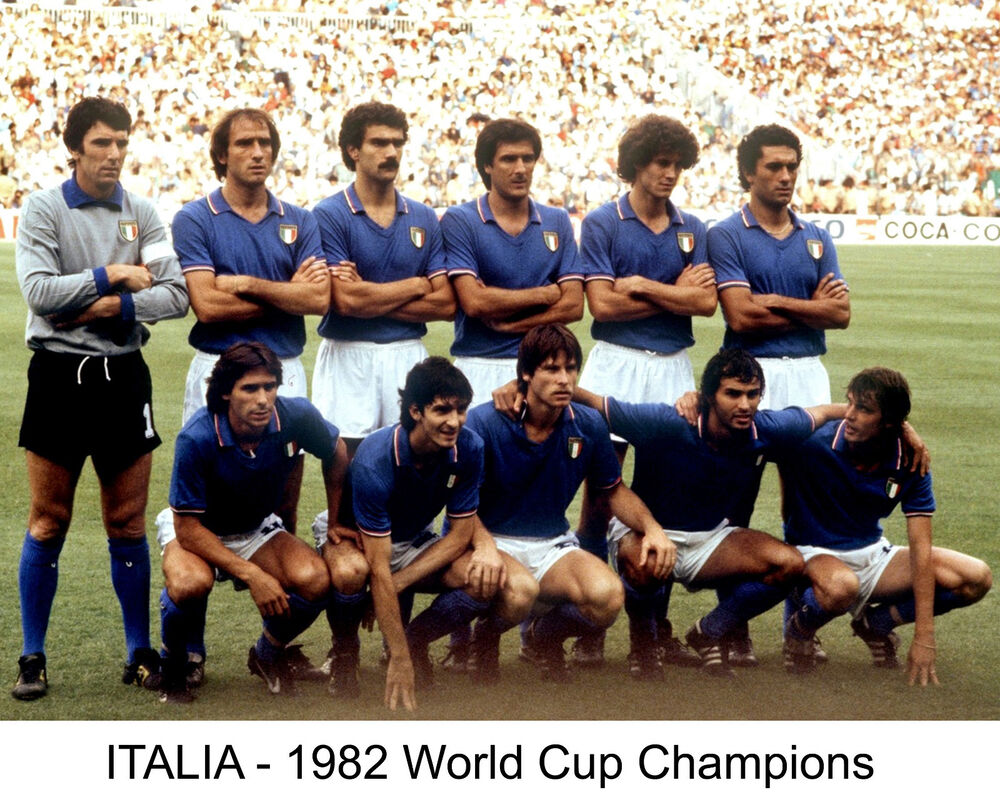 Italy 1982 world cup champions 8x10 color team photo ebay for Buro team 82