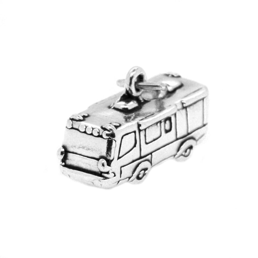 sterling silver travel 3d rv charm pendant ebay