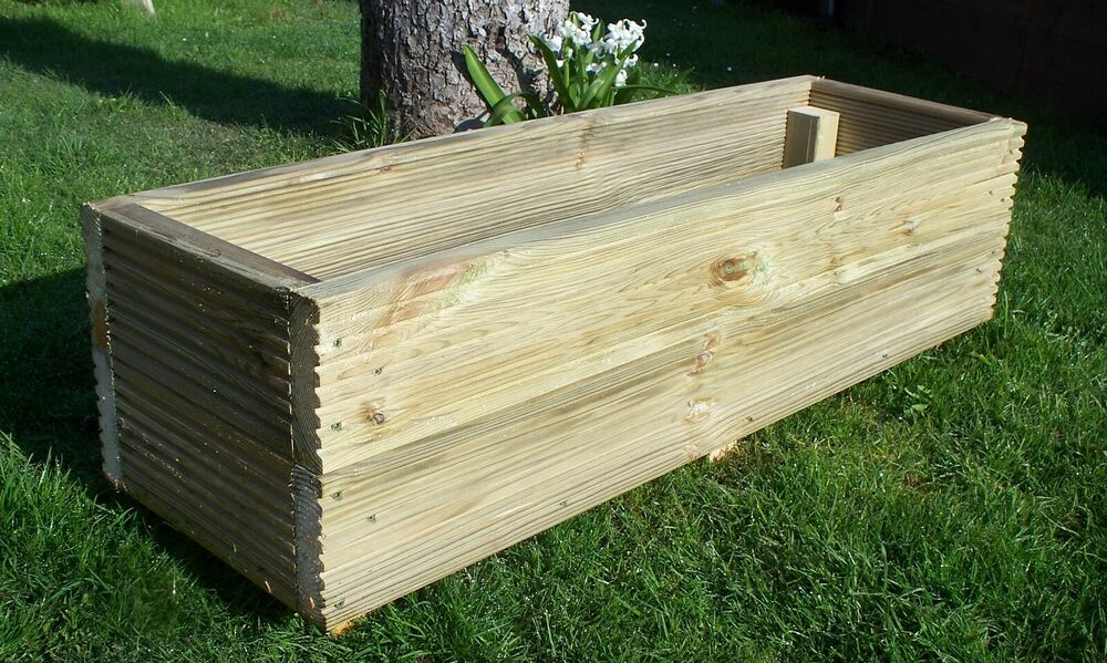 Large decking wooden garden planter 800 1000 or 1200mm for Decking boards 6m long