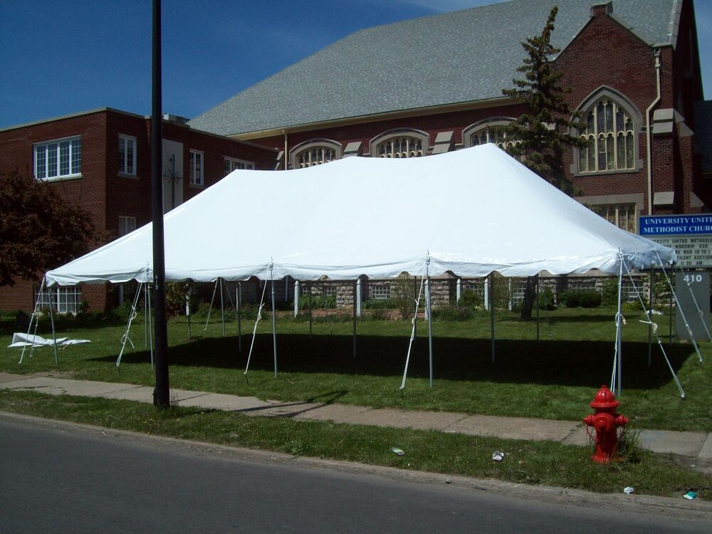 20 X 40 Commercial Pole Tent White Top Only Outdoor Tents