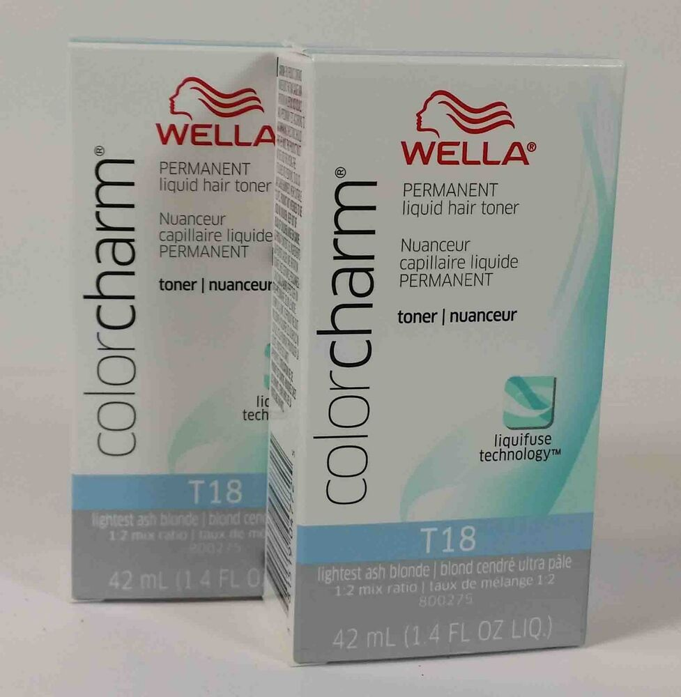 2LOT WELLA COLOR CHARM PERMANENT HAIR TONER 14OZ CHOICE COLOR  EBay