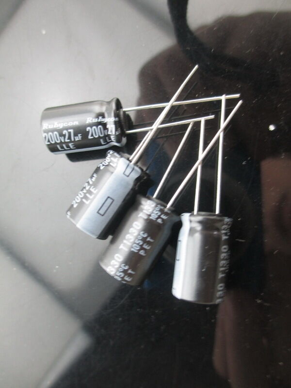 10pcs Rubycon Lle 27uf 200v 27mfd Electrolytic Capacitor