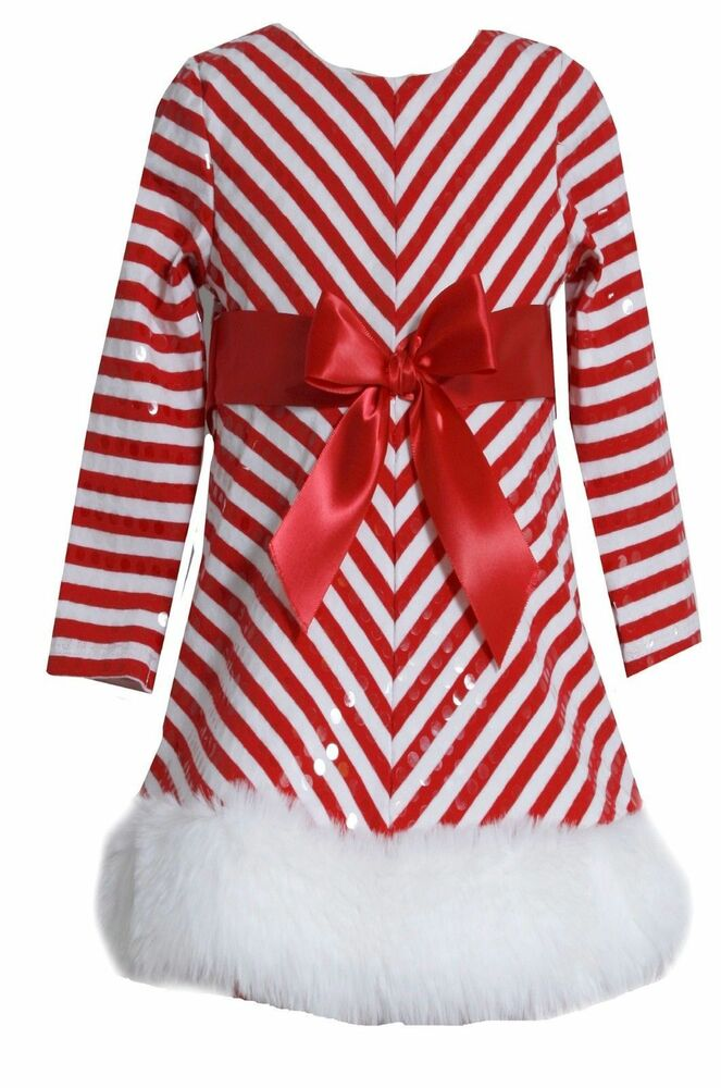 Sequins striped holiday christmas santa red dress red 4 16 ebay