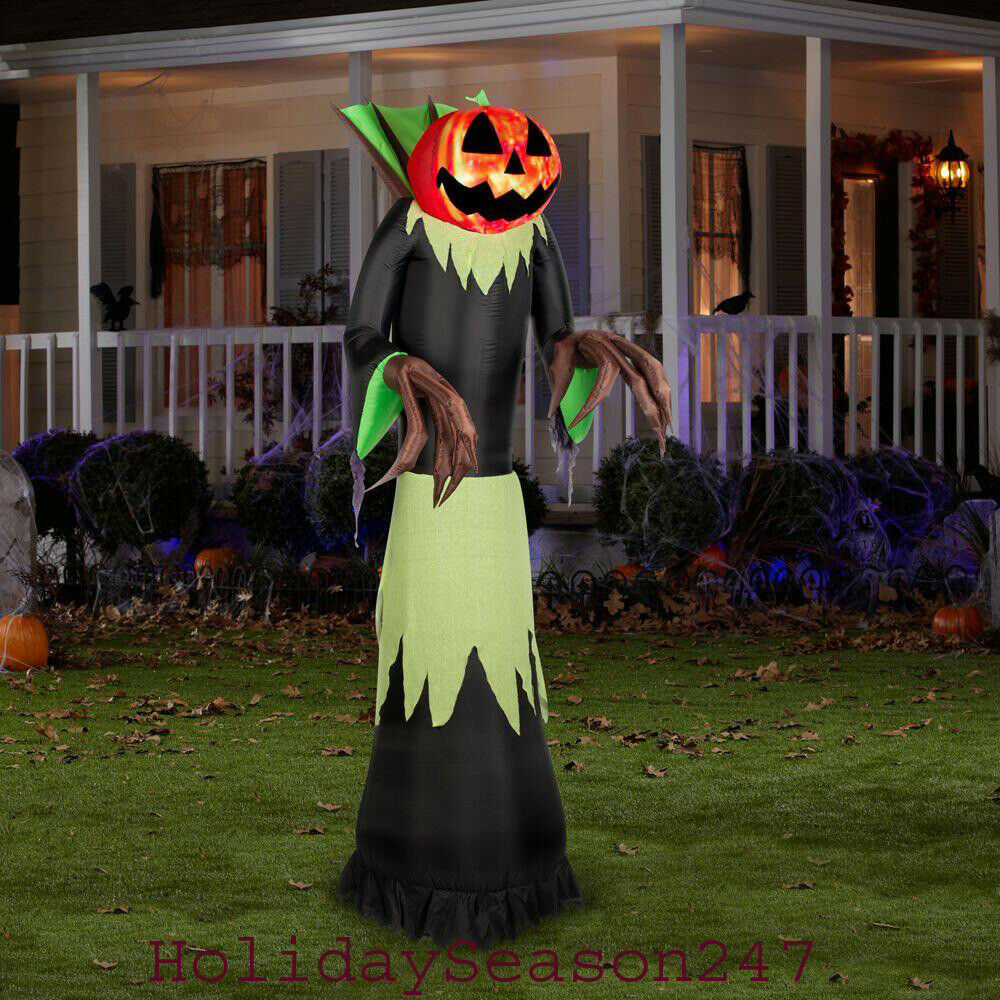 Halloween Outdoor Yard Decorations: Kaleidoscope Pumpkin Grim Reaper Airblown Inflatable