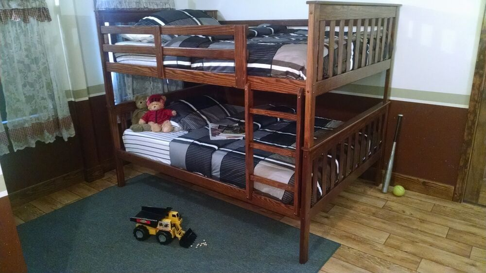 Mission Style Twin Or Full Bunk Beds 5 Stain Options