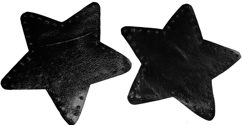 Black star shaped leather elbow patches ebay for Elbow patch template