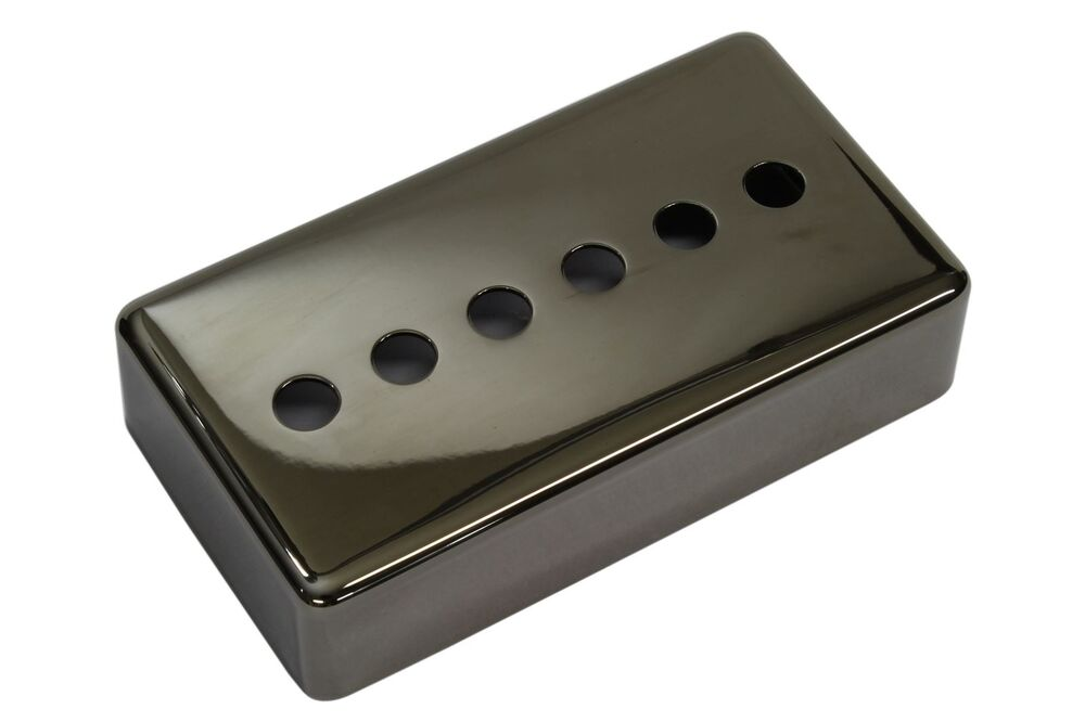 center hole single coil humbucker size pickup cover smoked black nickel 49mm ebay. Black Bedroom Furniture Sets. Home Design Ideas