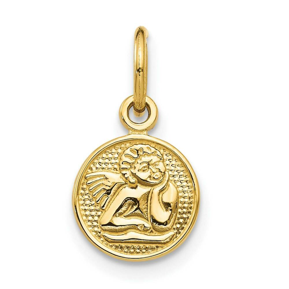 14k yellow gold small polished angel charm pendant 7mmx7mm for What is gold polished jewelry