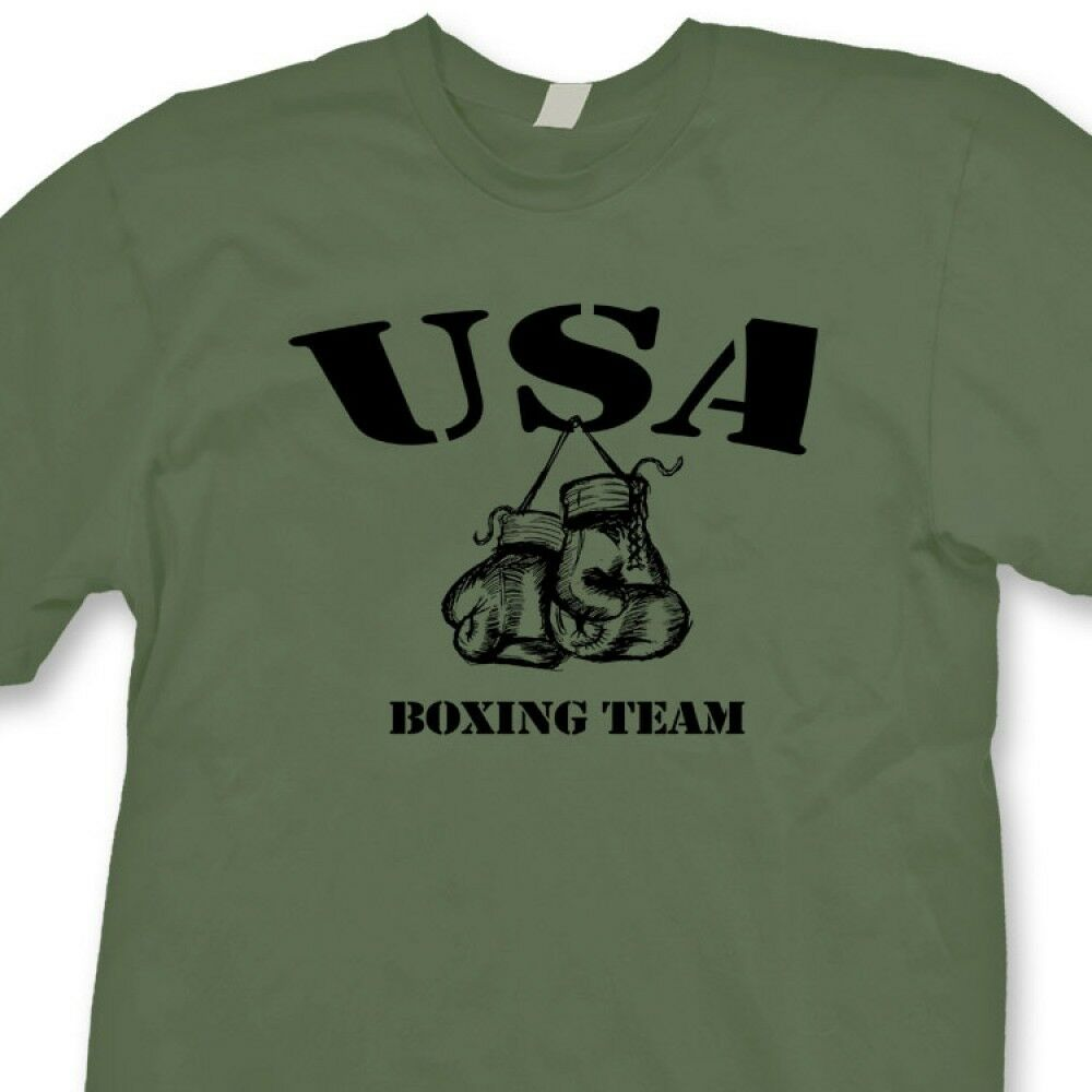 usa boxing team boxer gym ring t shirt fighting training tee shirt ebay. Black Bedroom Furniture Sets. Home Design Ideas