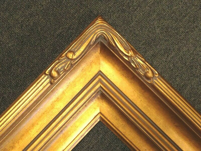 5 Quot Picture Frame Wide Huge Gold Leaf Ornate Photo Family