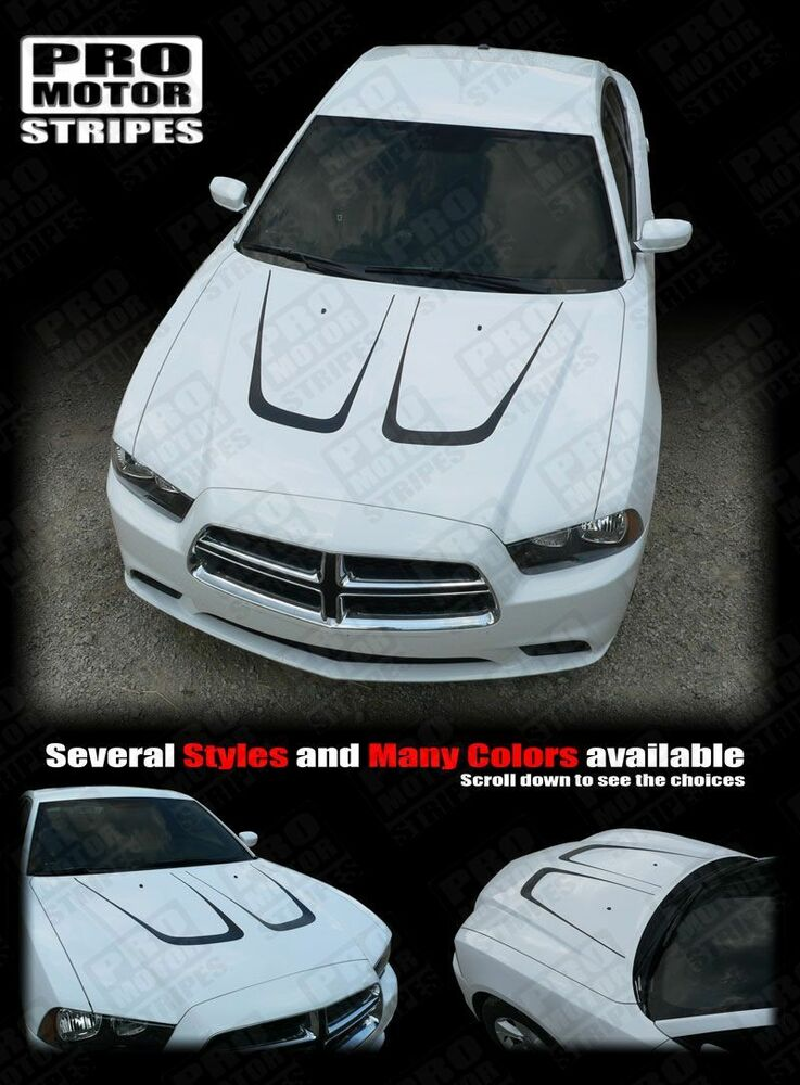 Dodge Charger 2014 Hood Accent Scallop Stripes 2011 2012